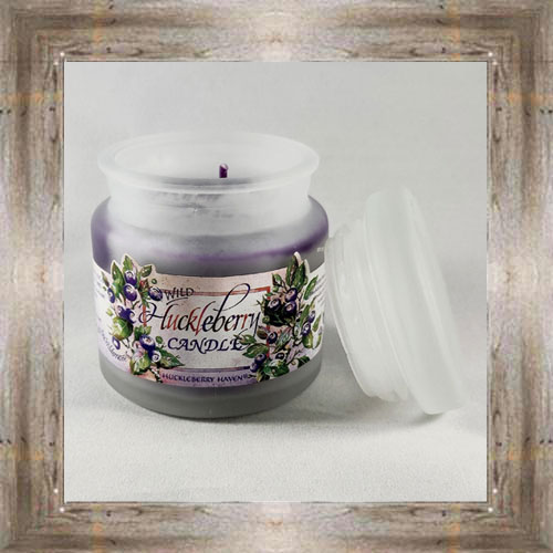 4oz. Frosted Huck Candle $6.99 #5092