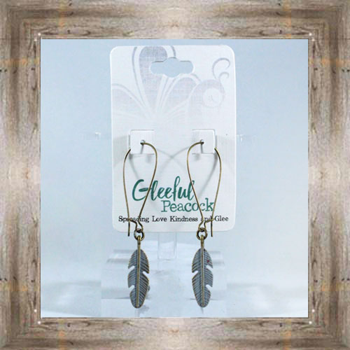 Charm Earrings (Feather) $14.99 #6526
