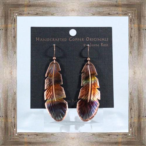 Handcrafted Copper Earrings $24.99 #5538