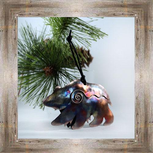 Copper Bear Ornament $19.99 #5916