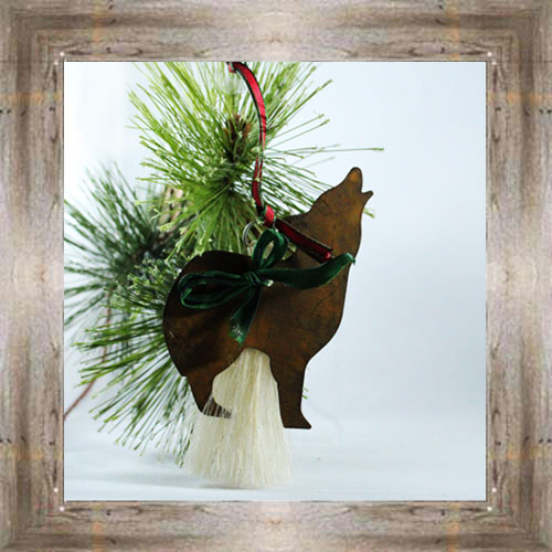 Cowboy Collection Wolf Ornament $10.00 #3492