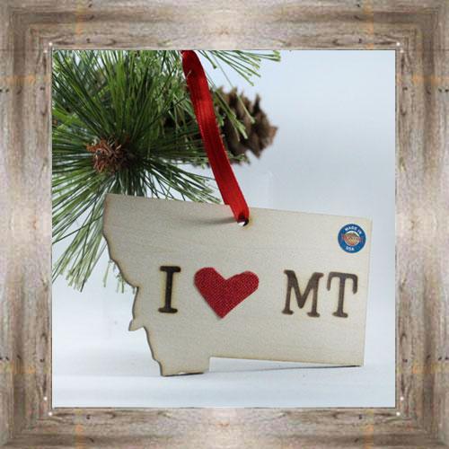 I Love MT Ornament $7.99 #777