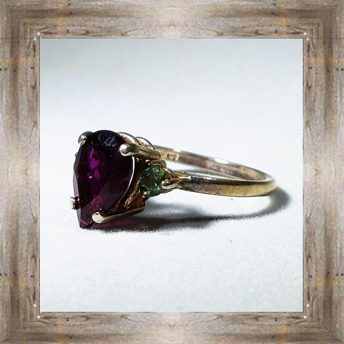 Genuine Montana Garnet Ring $150.00 #7394
