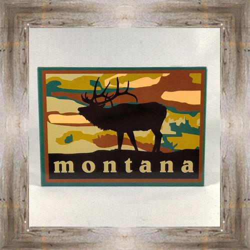 Sunset w/ Elk Magnet $5.00 #7755