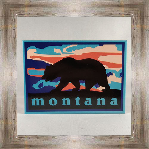 Sunset w/ Grizzly Bear Magnet $5.00 #7757