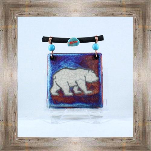 Raku Dreamcatcher Tile (Bear) $14.25 #7485