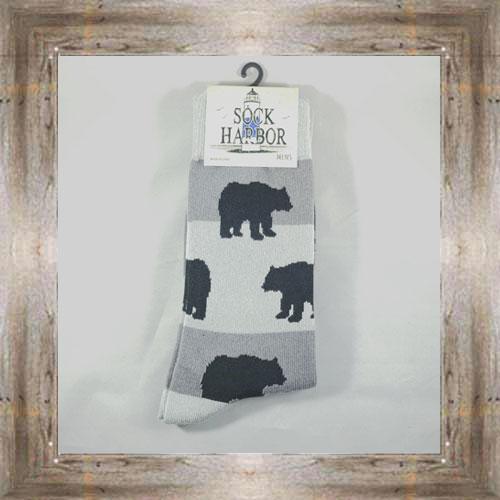 """Bear Print"" Adult Socks $10.50 #7299"