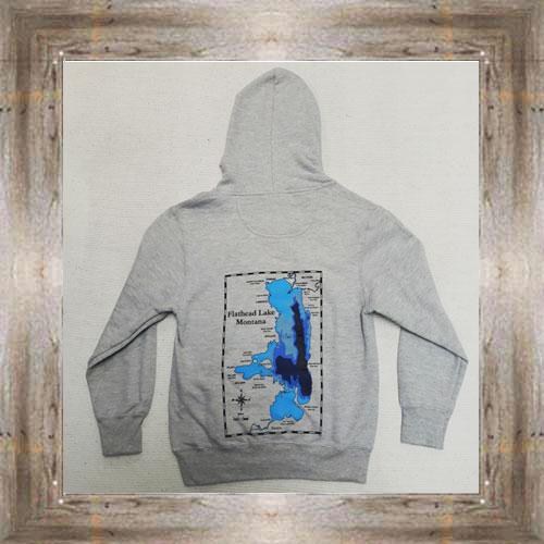Flathead Lake Youth Hoodie (back view) $39.99 #7737