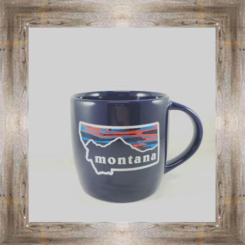 Montana Sunset Black Mug $15.00 #7942
