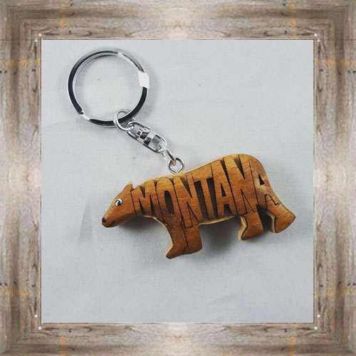 MT 3D Grizzly Keychain $6.75 #6695