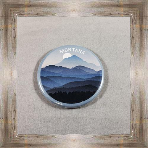 Mountains Button Magnet $4.99 #8173