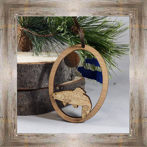 Trout Oval Ornament $9.50 #8343