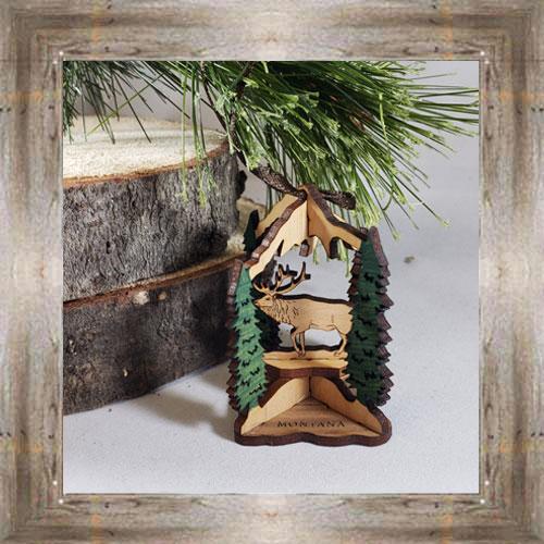 Elk 4-sided Ornament $11.50 #8346