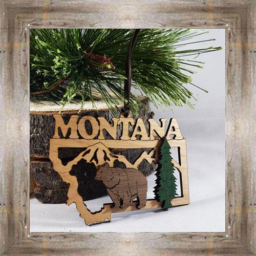 Bear Flat Wood Ornament $9.50 #8349