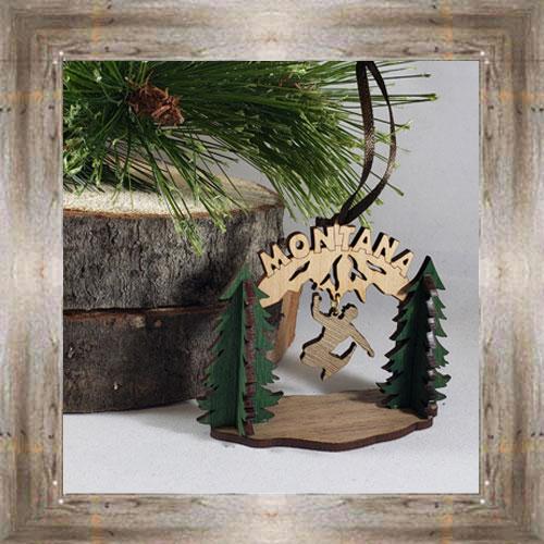Snowboarding Wood Ornament $12.99 #8350