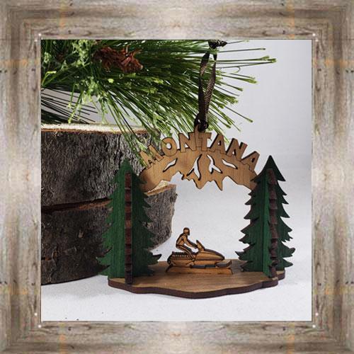 Snowmobile Wood Ornament $12.99 #8350