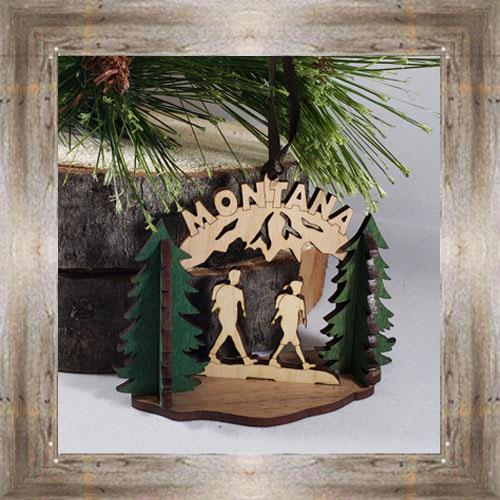 Hiking Wood Ornament $12.99 #8350