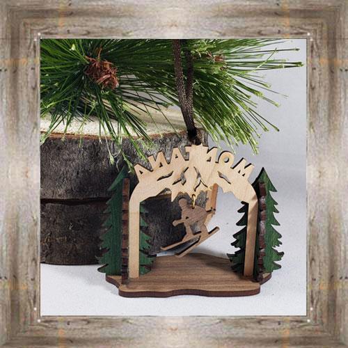 Skiing Wood Ornament $12.99 #8350