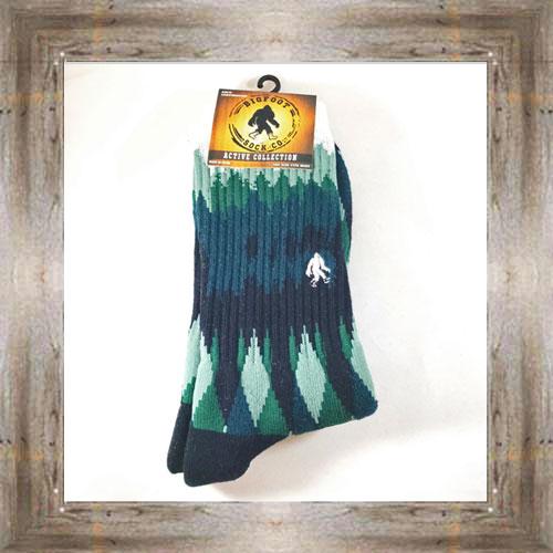 """Bigfoot"" (Forest) Active Socks $12.99 #8142"