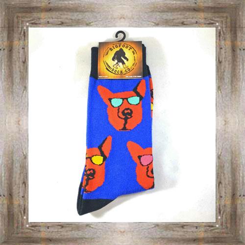 """Bigfoot"" (Dog) Adult Socks $11.50 #7299"