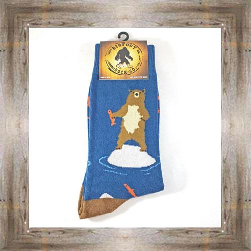 """Bigfoot"" (Bear) Adult Socks $11.50 #7299"