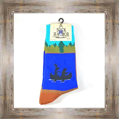 """Bigfoot"" (Rowboat) Adult Socks $11.50 #7299"