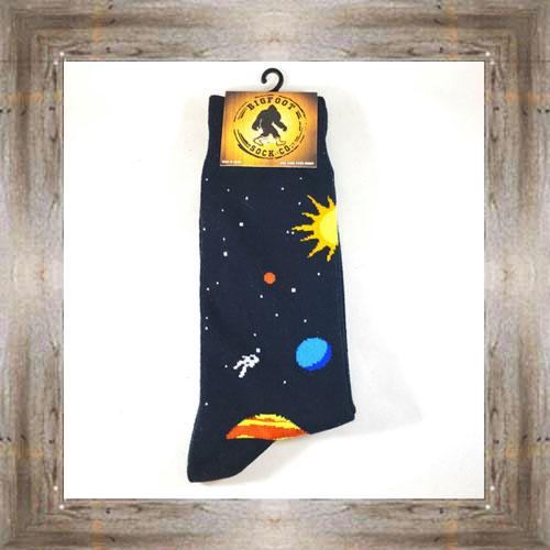 """Bigfoot"" (Space) Adult Socks $11.50 #7299"