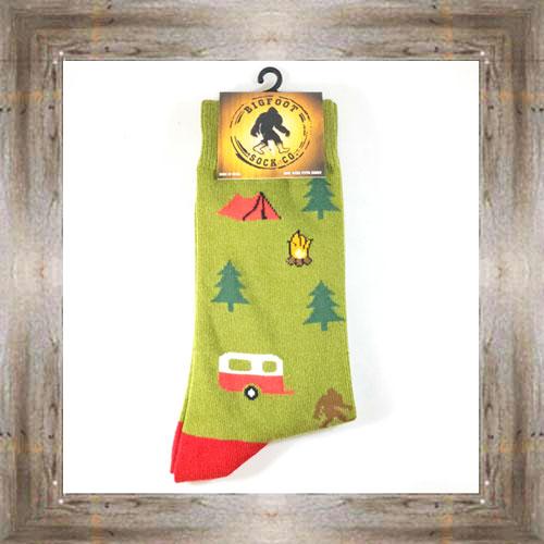 """Bigfoot"" (Tents) Adult Socks $11.50 #7299"