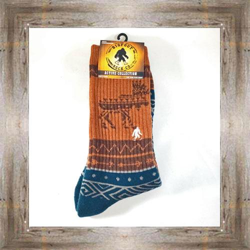 """Bigfoot"" (Moose) Active Socks $12.99 #8142"