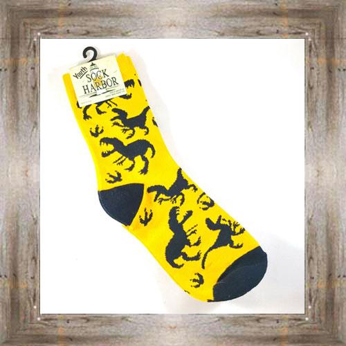 """Bigfoot"" (Dinosaurs) Kids Socks $6.50 #7300"