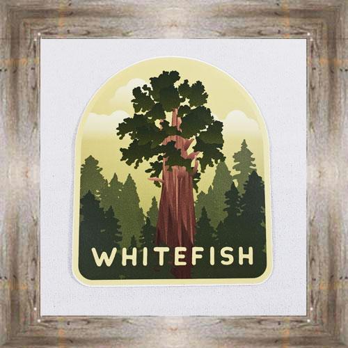 Large Sticker (Whitefish Tree) $3.50 #7213