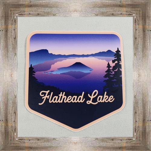 Large Sticker (Flathead Lake Sunset) $3.50 #7213