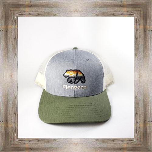 Aurora Sunset Bear Green Cap $28.99 #8267