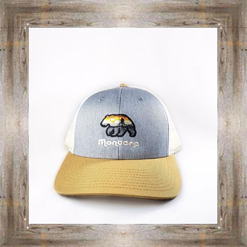Aurora Sunset Bear Tan Cap $28.99 #8267