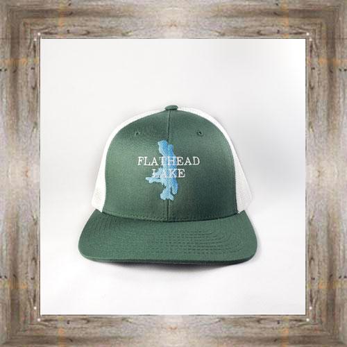 Flathead Lake Green Cap $28.00 #8122