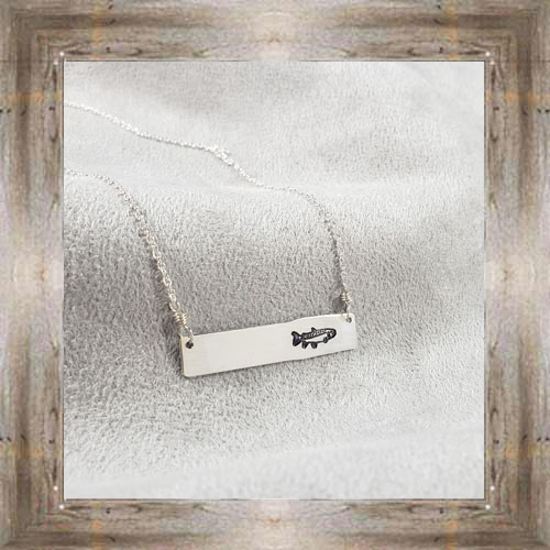 'Arianna's Jewels' Stamped Bar Fish Necklace $28.99 #7286