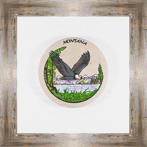 Bald Eagle ND Coaster $5.50 #8654