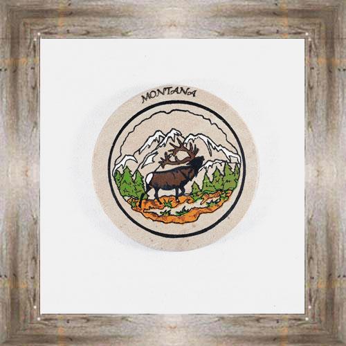Calling Elk ND Coaster $5.50 #8654