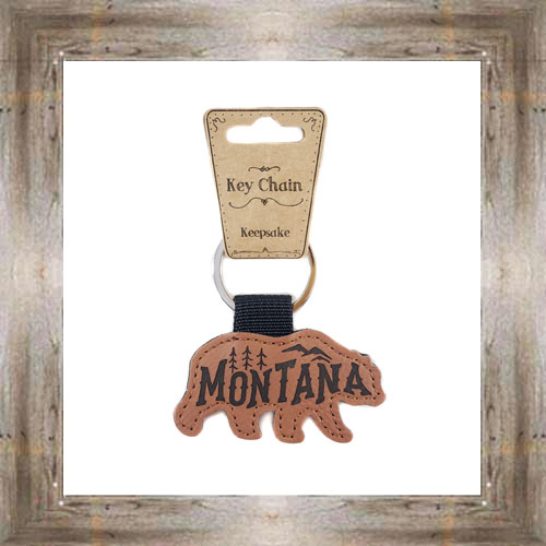 Leather MT Bear Key Chain $6.25 #8726