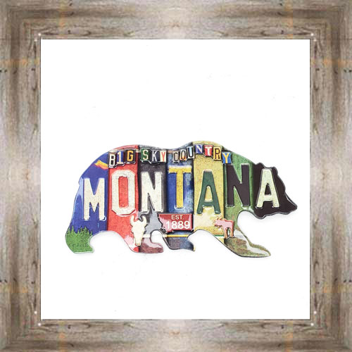 License Plate Bear Magnet $6.50 #8688