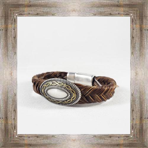 Medallion Horse Hair Clasp Bracelet $34.99 #8118