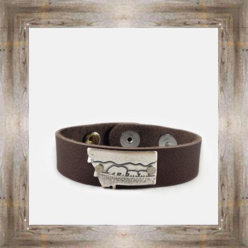 'Daphne Lorna' Mama Bear Leather Cuff $48.99 #8996