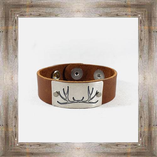'Daphne Lorna; Antler Rack Leather Cuff $48.99 #8996
