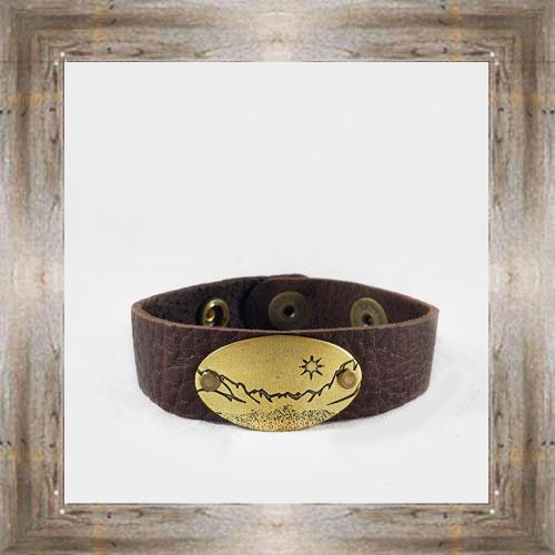 'Daphne Lorna' Scenic Brass Leather Cuff $48.99 #8996