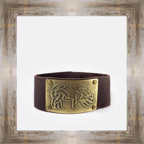 'Daphne Lorna' Wide Leather Bear Cuff $48.99 #8996