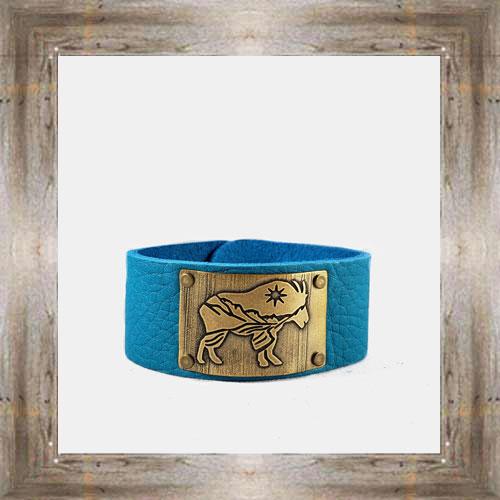'Daphne Lorna' Wide Leather MTN Goat Cuff $48.99 #8996