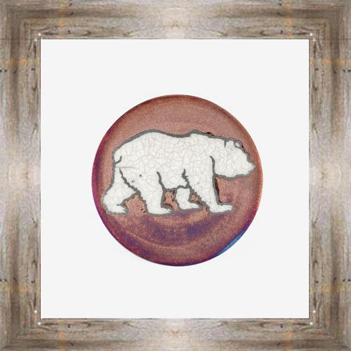 Grizzly Bear Raku Coaster $6.00 #7681