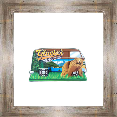 GNP Hippie Bus Wood Magnet $7.00 #7993