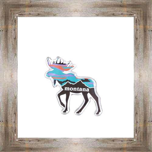 MT Moose Sunset Magnet $6.25 #8772