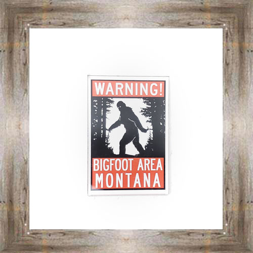 Warning Bigfoot Area Magnet $6.75 #8285